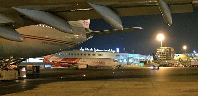 Abu Dhabi Airport Abflug